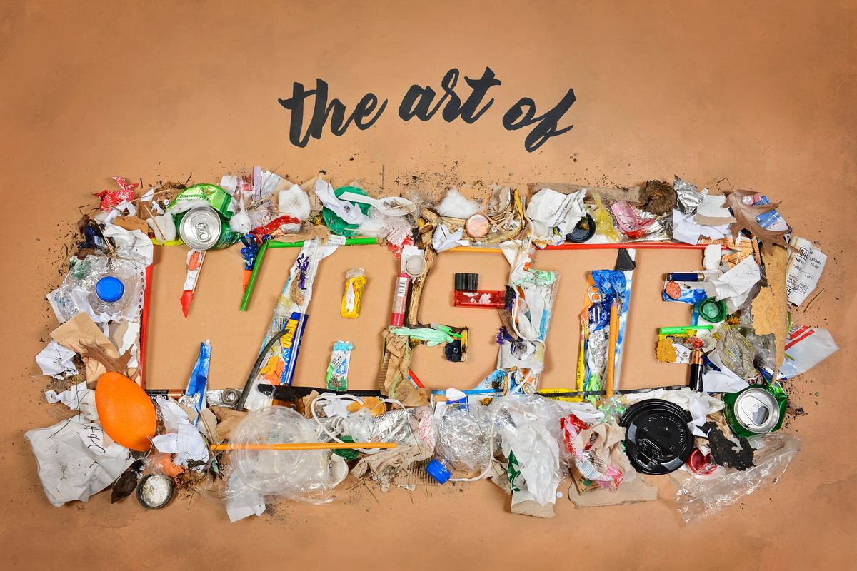 Artist's rendering of the trash humans produce to say